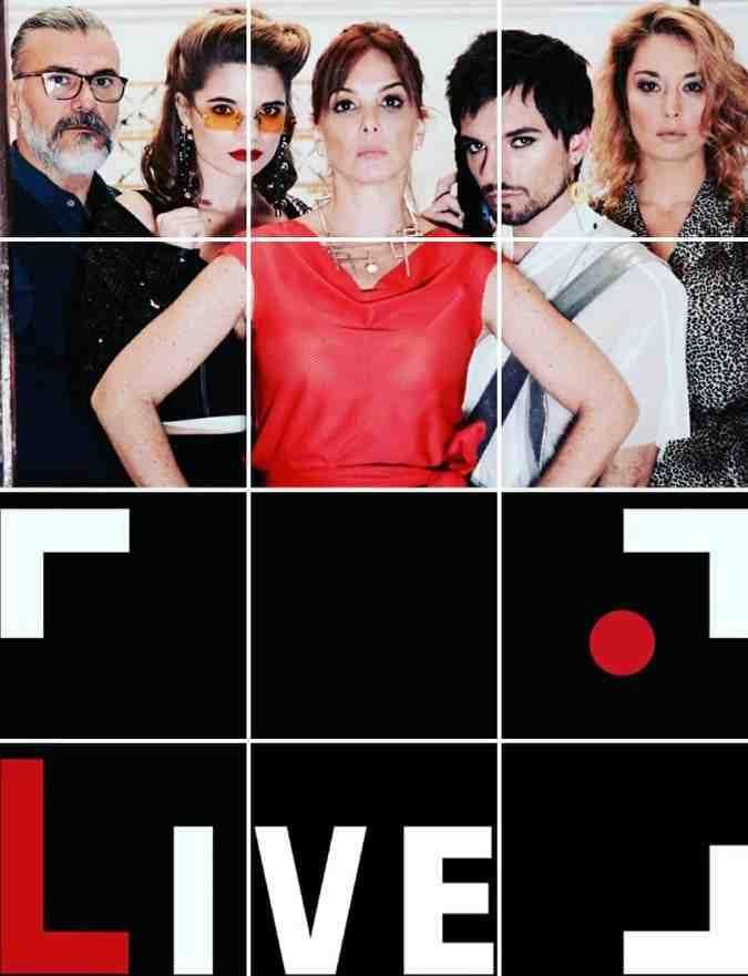 Leonardo Vieira, Rita Demel,  Karla Muga, Pedro Ramoa e  Iolanda Laranjeiro da série Live Instagram