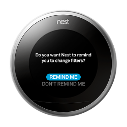 Nest reminder filter settings