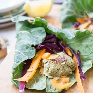 Green Veggie Falafel Wraps