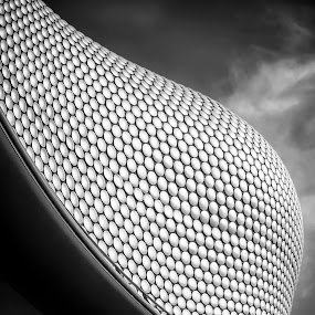 It Came From The Rapture by Mladen Bozickovic - Buildings & Architecture Architectural Detail ( modern, bullring, building, england, sky, pattern, birmingham, black & white, architecture, design )