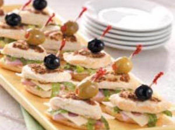 My Ham 'n Cheese Party Finger Sandwiches Recipe