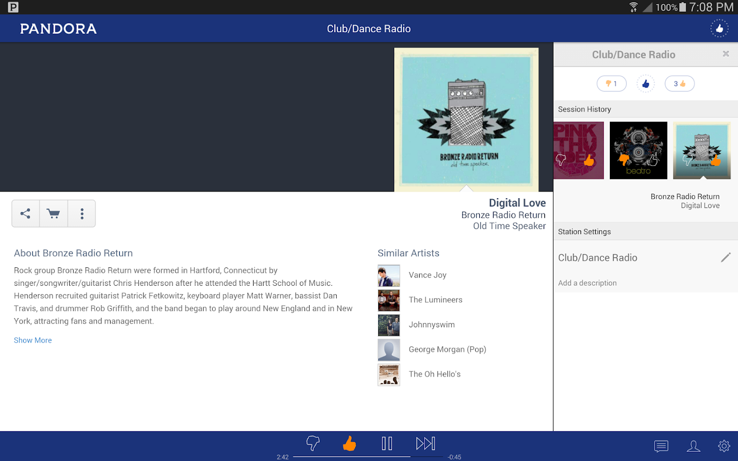 Pandora® Radio- screenshot