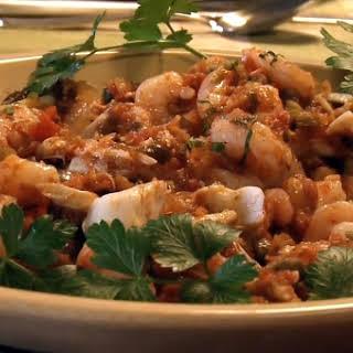 Chilled Shrimp and Crab a la Veracruzana.