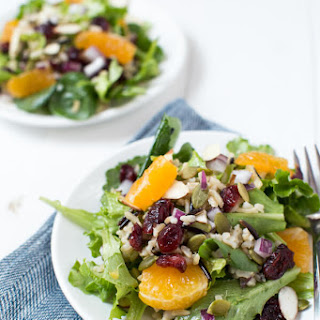 Winter Harvest Salad with Wild Rice, Cranberries, and Citrus
