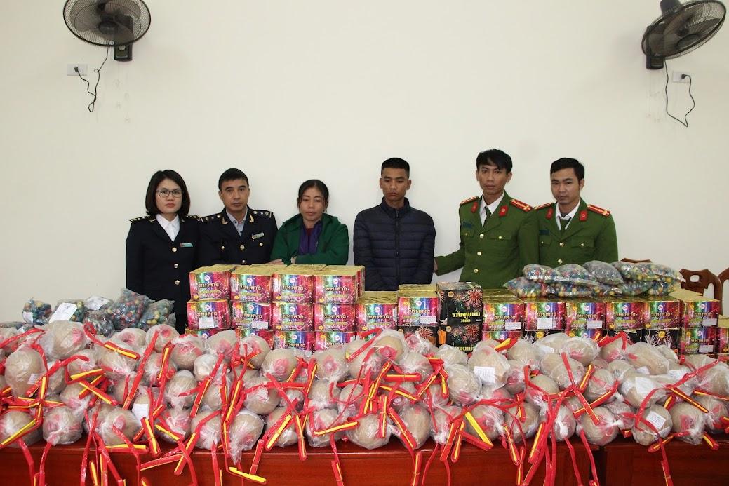 Công an huyện Yên Thành chủ trì phối hợp với Đội Kiểm soát Hải quan Nghệ An phá Chuyên án 159P, thu giữ 3,6 tạ pháo các loại