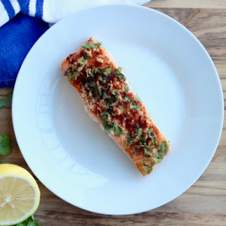 Garlic Cilantro Salmon