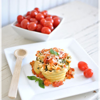 Easy Lasagna Cups for Lunch or Dinner.