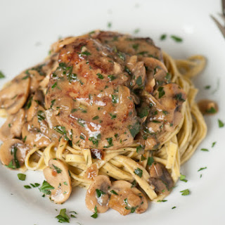 Tender Pork Marsala.