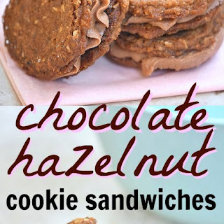 Chocolate Hazelnut Cookie Sandwiches.