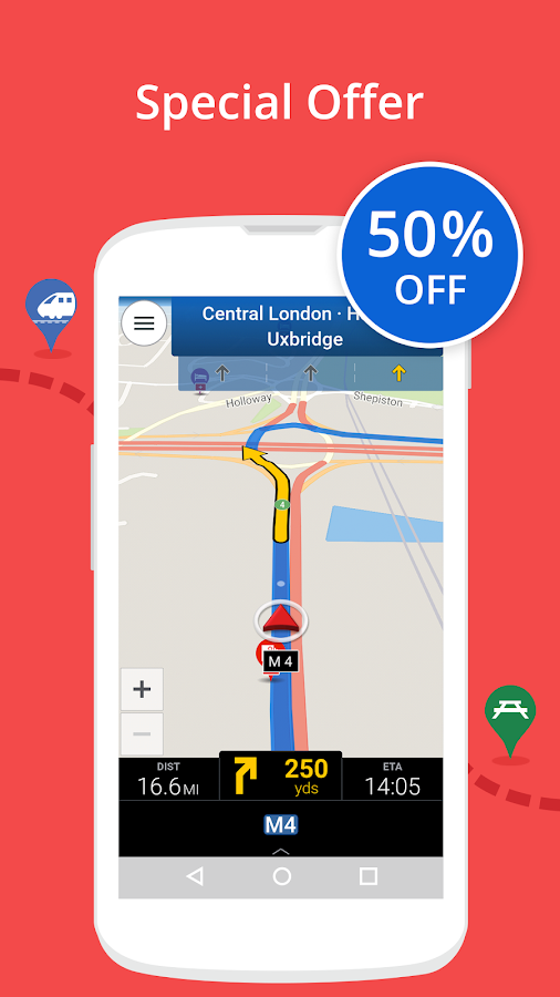 CoPilot UK + Ireland Navigation- screenshot