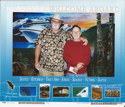 """Photo: Roger's brother asked that we do the """"Welcome Aboard"""" photo... well Wes, here you go! I really thought I was smiling in this....."""