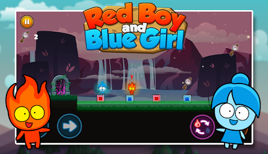 Red boy and Blue girl - Forest Temple Maze Screenshot