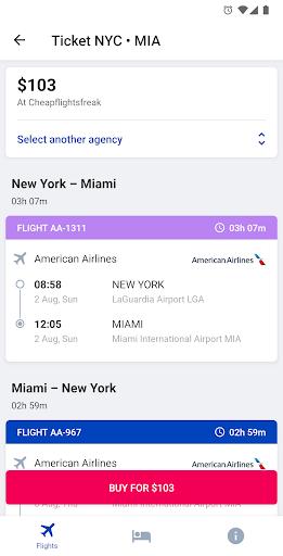 Capturas de pantalla de hoteles y vuelos 8