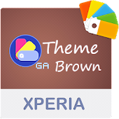 COLOR™ XPERIA Theme   BROWN Android APK Download Free By Ga