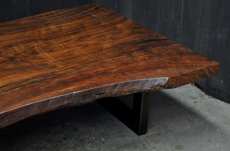 Photo: for more info on this table, see this blogpost http://dorsetcustomfurniture.blogspot.com/2016/04/claro-walnut-slab-tables.html