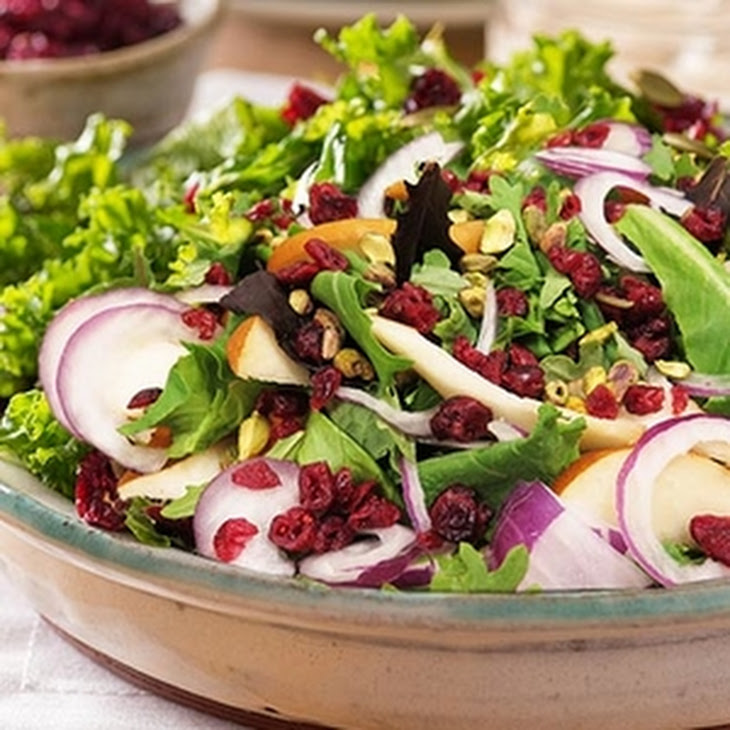 Holiday Kale Salad with Cranberries Recipe