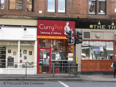 Curry Pot On Dumbarton Road Indian Takeaway In Partick