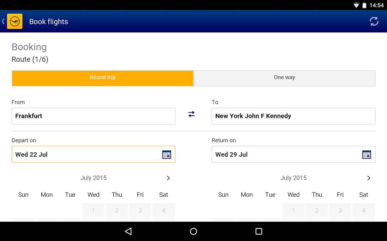 Lufthansa- screenshot