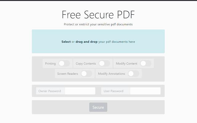Free Secure PDF