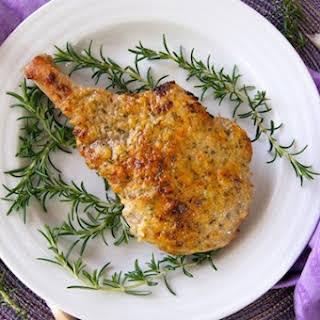 Rosemary Garlic Crusted Pork Chops.