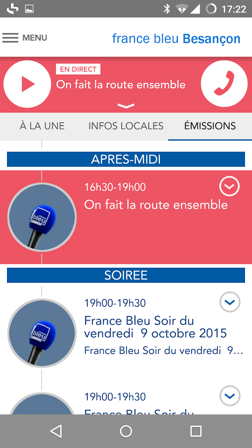 France Bleu- screenshot