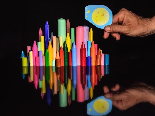 Costruire città di colori di Sergio Rapagnà