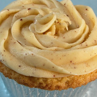 Moist Yellow Cupcakes with Browned Butter Frosting