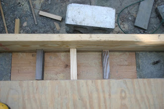 Photo: Supports for the luon ply wood  arch curve
