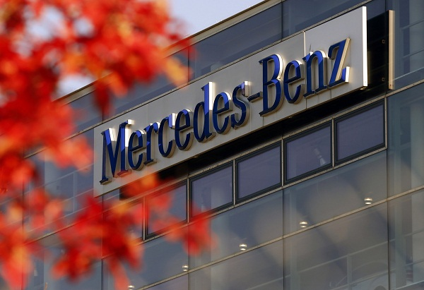 The logo of German luxury car maker Mercedes-Benz, a subsidiary of Daimler AG, is pictured in Munich, German. Picture: REUTERS