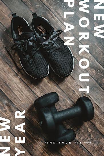 New Year Workout Plan - Pinterest Pin Template