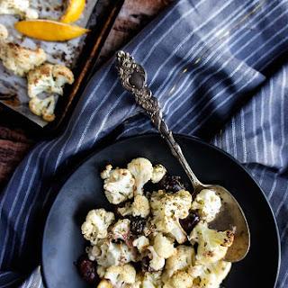 Roasted Cauliflower with Olives & Oregano Recipe