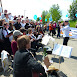 Frieden geht - Kundgebung bei Heckler&Koch - Lebenslaute intonieren 'Wohl denen, die da wagen'.JPG
