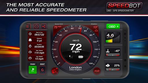 Speedbot. Free GPS/OBD2 Speedometer Apk 1