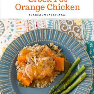 Crock Pot Orange Chicken with Sweet Potatoes.