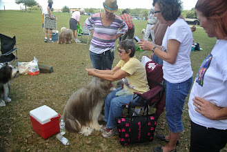 Photo: Sandy Weiss with hairstyling lessons