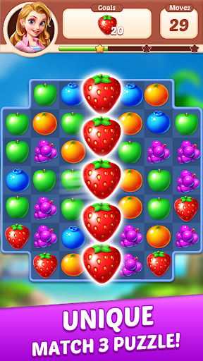 Fruit Genies - Match 3 Puzzle Games Offline androidiapk screenshots 1