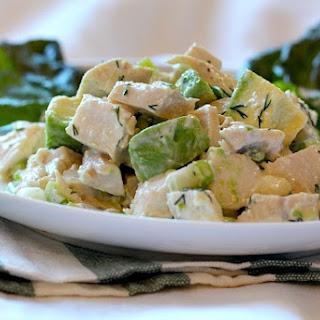 Creamy Tangy Chicken Avocado Salad.