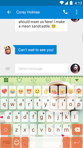 玩免費遊戲APP|下載Coffee Eva Keyboard -Diy Gif app不用錢|硬是要APP