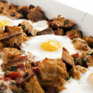 Bacon, Tomato, and Cheddar Breakfast Bake