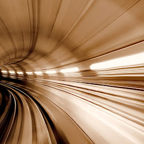 terowongam by Muzany Consequat - Digital Art Abstract ( pwcstorms, speed, color, art, abstrack, 2012, nikon, pwcredscapes, tunel )