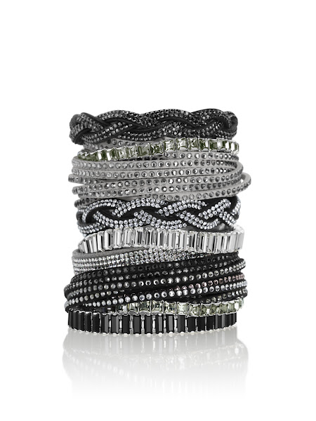 Photo: Mix and match sparkling SWAROVSKI CRYSTALLIZED™ bracelets to express your own and unique look.