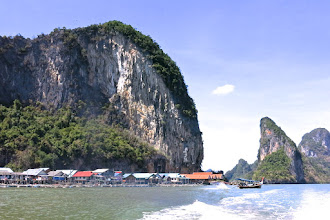 Photo: Muslim village on stilts on Koh Panyee in Phang Nga Bay