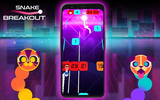 Snake Breakout: Fun PvP Battle Arcade Racing Games android2mod screenshots 8