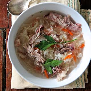 Russian Shchi (Sauerkraut Soup).