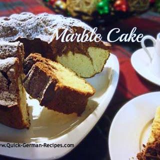 German Marble Pound Cake