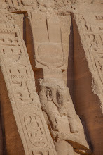 Photo: ABu Simbel - temple of Nefertari, statue of Hathor
