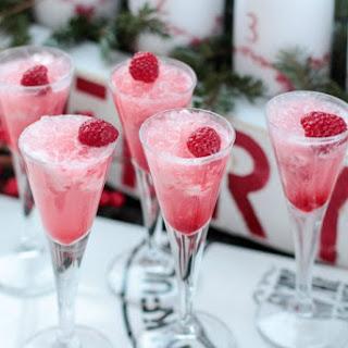 Raspberry Cream Mimosas.