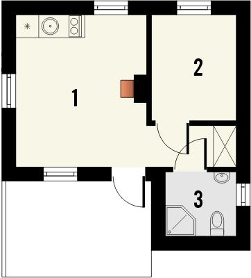 Domek 8 - Rzut parteru