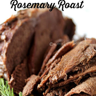 Slow Cooker Rosemary Beef Roast.