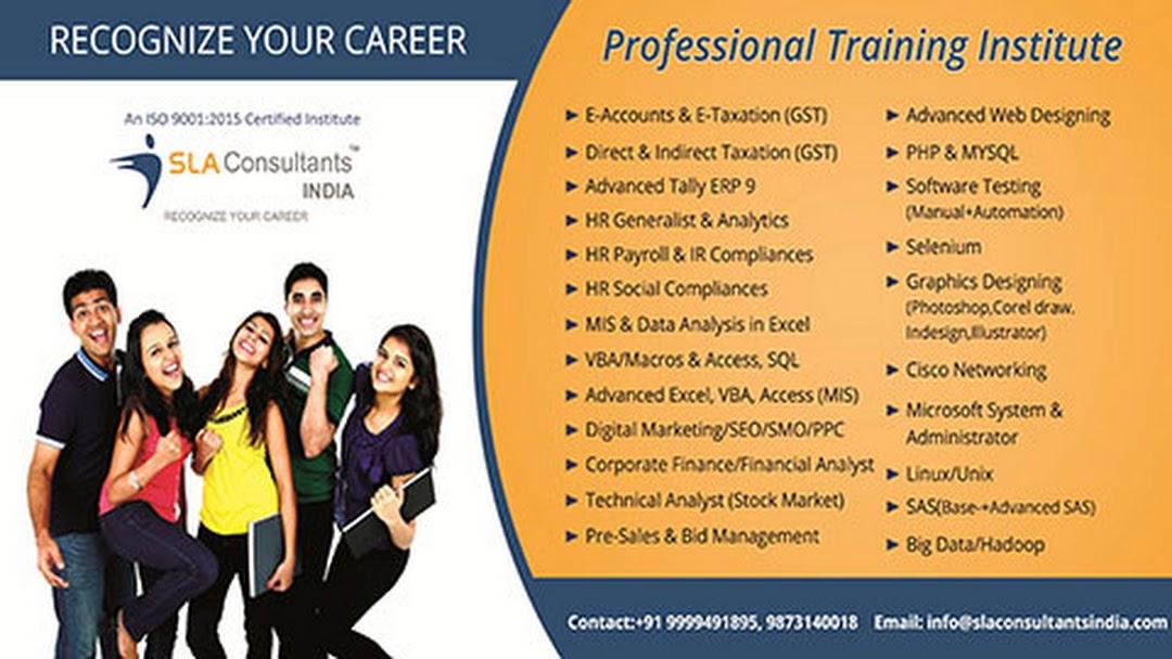 SLA-Data Analytics-MIS Analyst-GST Tally E-Accounting HR SAP
